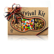 austiNuts Survival Kit - Fruits, Nuts & Jelly Beans is everything you need in one!   Contains: Fancy Fruit Nut Mix, Salted Deluxe Nut Mix & Jelly Belly Beans