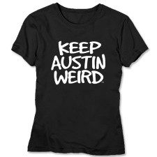 austiNuts Keep Austin Weird-Unisex  Black T-Shirt