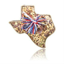 austiNuts Medium Texas Basket with Salted Lone Star Mix  Contains: Almonds, Brazil, Cashews, Hazel Nuts , Peanuts, Pumpkins Kernels