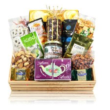 austiNuts Wood crate gift basket office celebration