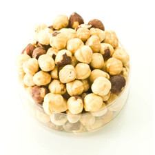Dry Roasted Hazelnuts in a clear container | Hazelnuts | Hazelnut