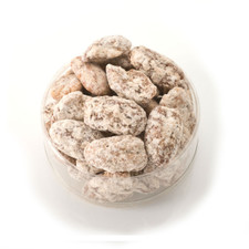 Praline Pecans in a clear container