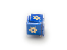 Party Favor: Clear Cube with Star of David Chocolate Squares