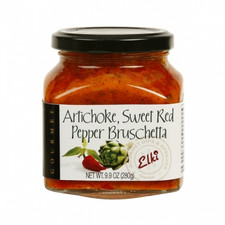 Artichoke Sweet Red Pepper Bruchetta