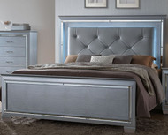 LILLIAN LED LIGHTED QUEEN BED