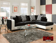 IMPLOSION BLACK 2 PC SECTIONAL