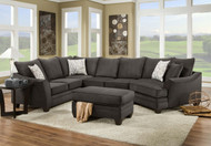 Flannel Seal 3 PC sectional