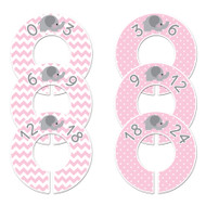 Elephant pink baby closet dividers