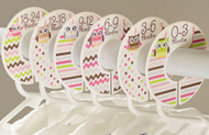 Owls baby closet dividers