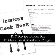 White Chalkboard Printable Recipe Kit