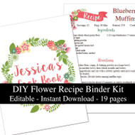 Flower Printable Recipe Kit