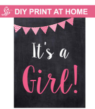 It's a girl sign Printable Poster