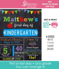 Editable Blue School Sign Printable Poster