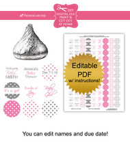 Polka Dot Printable Baby Shower Stickers