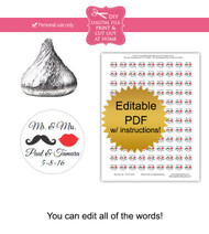 Mustache & Lips Printable Candy Stickers