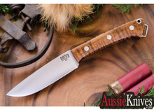 Bark River Knives Fox Rive Dark Curly Maple # 1