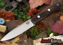 Bark River Knives: Aurora LT - CPM 3V - Macasser Ebony