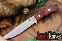 Bark River Wilderness Explorer - CRUWEAR - Scarlet Chechen Burl - Black Liners