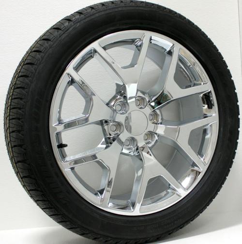 "Michelin Defender Reviews >> GMC Honeycomb Chrome 22"" Wheels With Bridgestone Dueler ..."