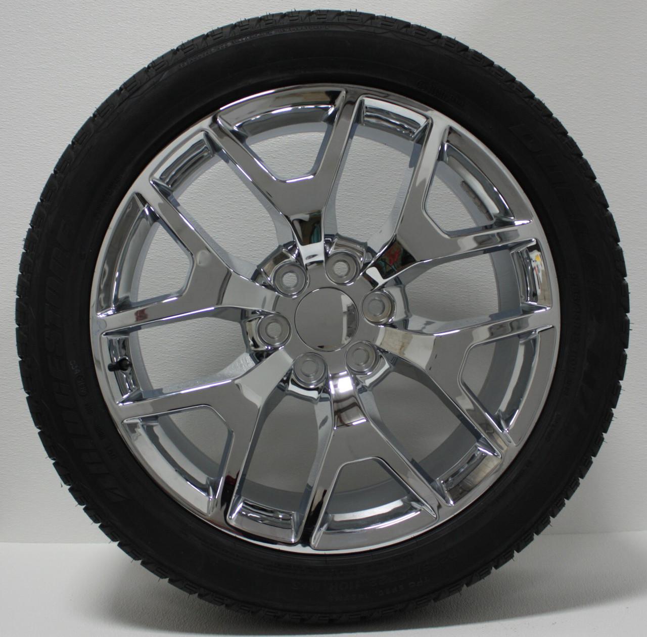 "Bfg Ko 2 >> Chevy Honeycomb Chrome 22"" Wheels With Bridgestone Dueler Alenza Tires"