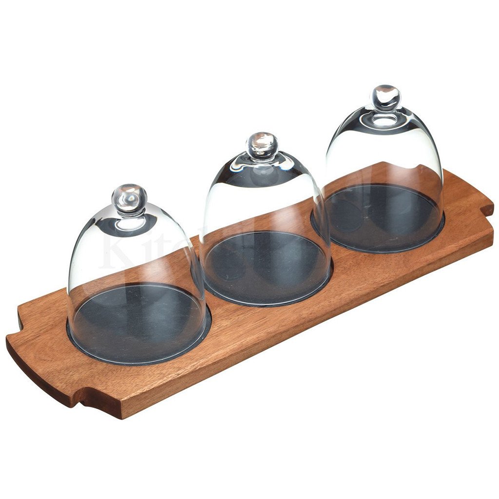 Appetiser Set 3 Glass Cloche Infusions