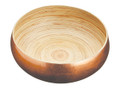 ARTESÌÎÌÝ LARGE 26CM BAMBOO SERVING BOWL WITH COPPER FINISH