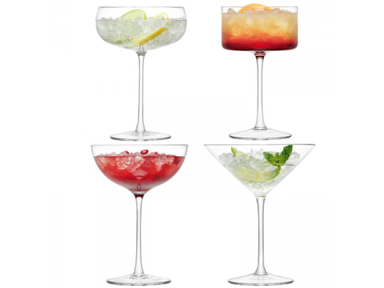LSA Champagne/Cocktail Glass x4