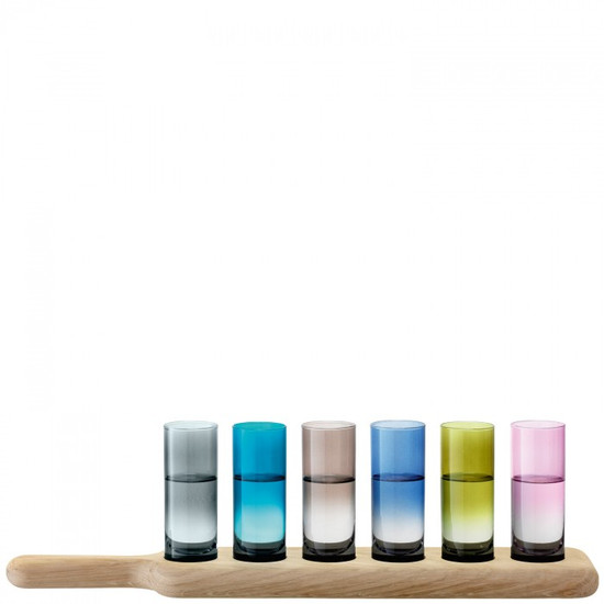 LSA Vodka Set Assorted Colours With Oak