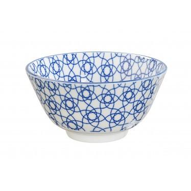 Tokyo Design Studio Nippon Blue Stripe Rice Bowl