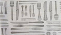 Greaseproof Paper - Cutlery Design x500 Sheets