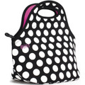Built Gourmet Getaway Lunch Tote Big Dot Black