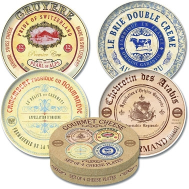 Creative Tops Gourmet Cheese Set Of 4 Cheese Plates  sc 1 st  Infusions4chefs & Stoneware Gourmet Cheese Plates - Set Of 4 - Infusions