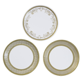 Party Porcelain Gold Canape Plates