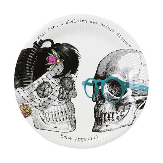 Skeleton Paper Plates