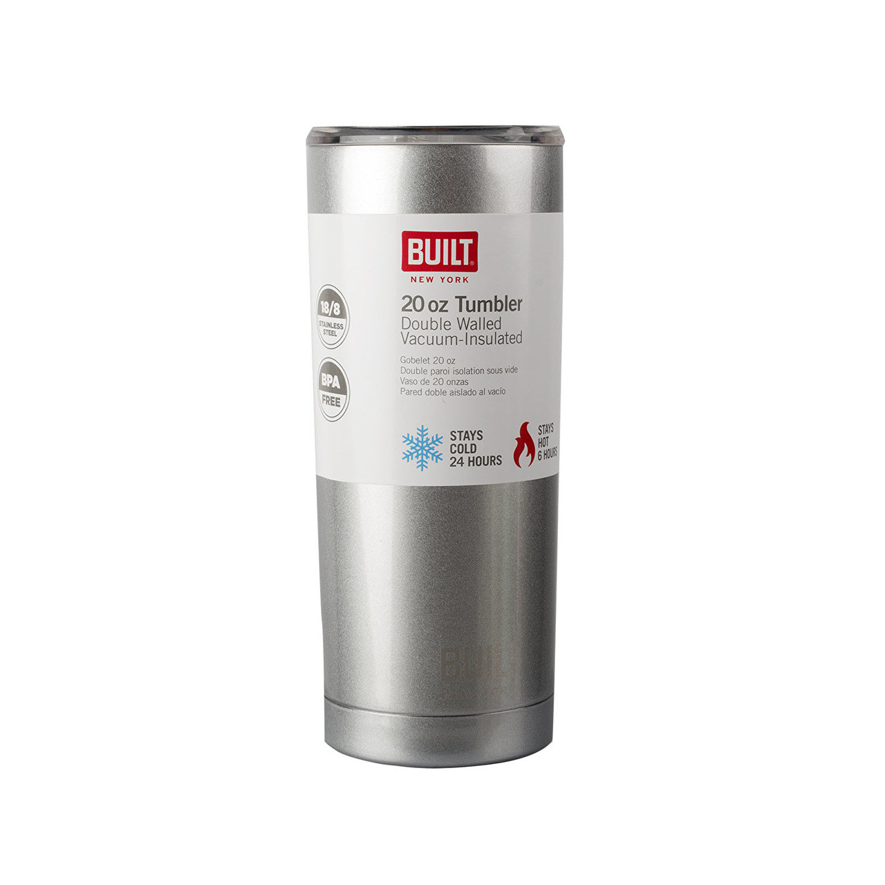 Double Walled Stainless Steel Water Tumbler Silver