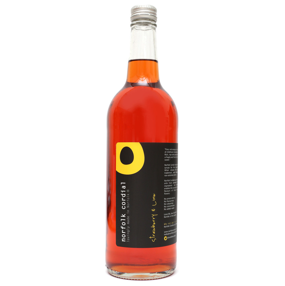 Norfolk Cordial - Strawberry & Lime 750m
