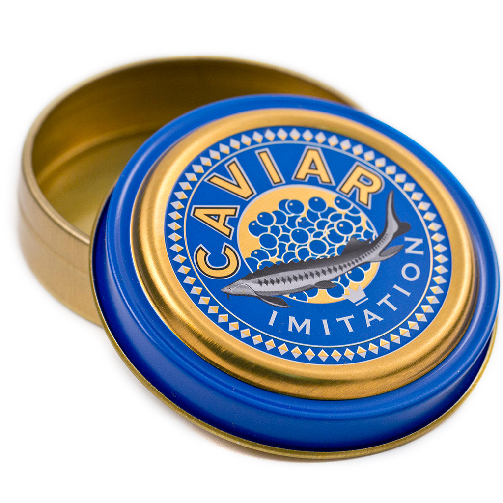 Caviar tin printed design infusions for What fish does caviar come from