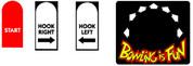Capcom Bowling Control Panel Overlay stickers