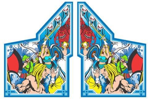 Gauntlet Video Arcade Side Art