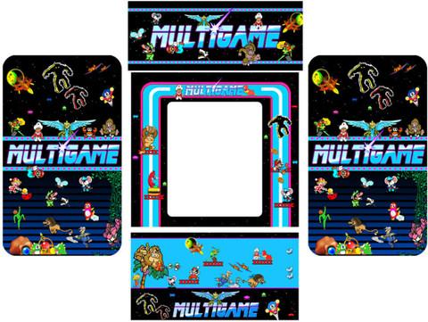 MultiGame 5 piece custom graphic restore kit
