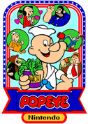 Popeye Video Arcade Side Art