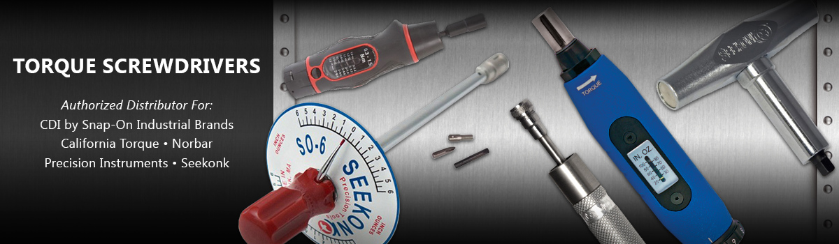 Torque Screwdrivers from CDI Snap-On, Norbar, Seekonk & California