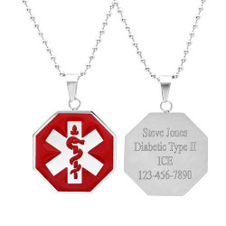 Stainless Steel Medical ID Tag - Free Engraving
