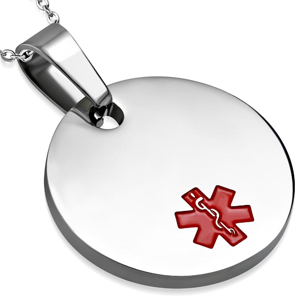 Small medical id pendant medical id alert charm aloadofball Images