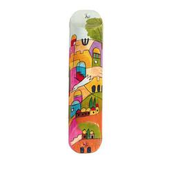 Multicolor Small Painted Wooden Mezuzah Case By Yair Emanuel