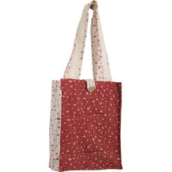 Red & White Pomegranates Printed Tote Bag By Yair Emanuel