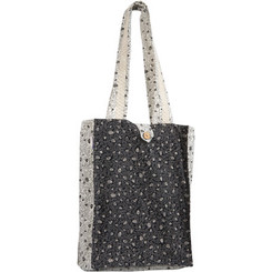 Black & White Pomegranates Printed Tote Bag By Yair Emanuel