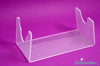 Clear Acrylic (Lucite) Shofar Stand for Yemenite Shofars (Fit All Sizes)