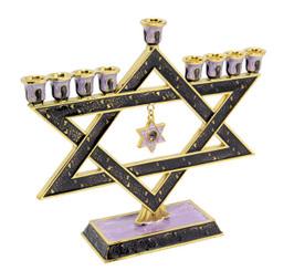 """Hanukkah Menorah Enamel coating 9.5"""" Two-Sided By Judaicamore"""