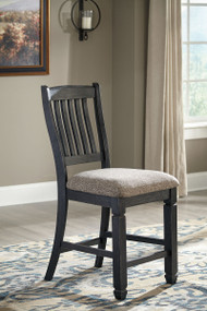 Tyler Creek Black/Gray Upholstered Barstool (2/CN)
